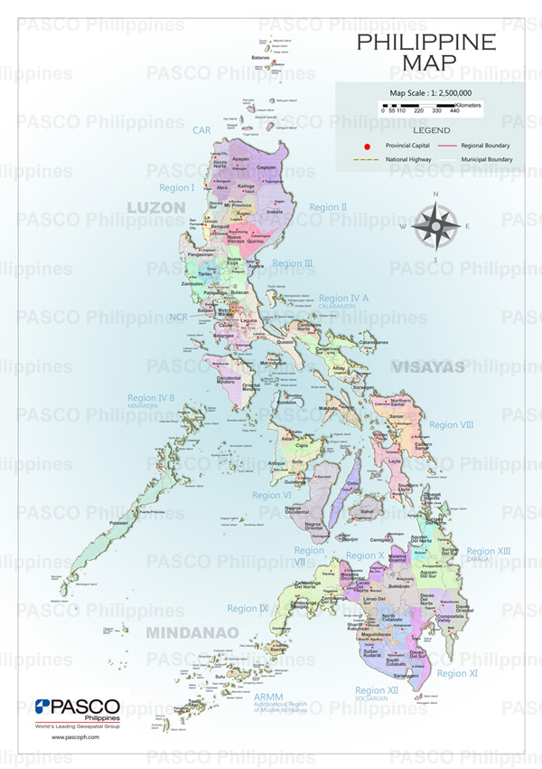 PASCO PHILIPPINES CORPORATION - Philippines map